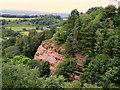 SJ5054 : Sandstone cliff at Raw Head by John Darch