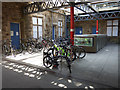 SD4761 : Cycle racks on Lancaster station by Stephen Craven