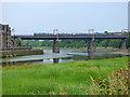SD4762 : Transpennine train crossing the Carlisle bridge by Stephen Craven