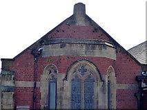 SD4464 : Emmanuel church, Rossendale Avenue, Morecambe  - detail by Stephen Craven