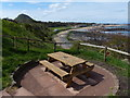 NT5685 : Picnic bench overlooking Milsey Bay, North Berwick by Mat Fascione