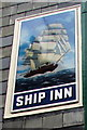 SY3492 : Ship Inn name sign, Lyme Regis by Jaggery