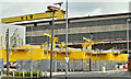 J3574 : Wind turbine parts, Harland & Wolff Belfast (June 2018) by Albert Bridge