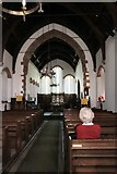 NY4319 : Interior of St. Peter's Church, Martindale by Peter Jeffery