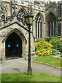 SK4826 : Lamp-post outside Church of St Andrew, Kegworth by Alan Murray-Rust