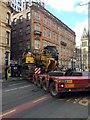 SJ8497 : Low loader blocks Princess Street, Manchester by Robin Stott