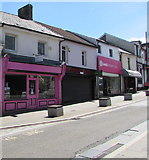 ST1599 : Pink shop front in High Street, Bargoed by Jaggery