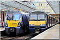 NS2982 : Class 334 and Class 320 stand at Helensburgh Central by Adam Forsyth