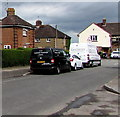 SO9622 : Black van and white van, Isbourne Road, Cheltenham by Jaggery