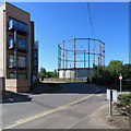 TL7106 : Chelmsford: Wharf Road and gasholder by John Sutton