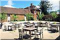 SP6836 : Tea Garden at The New Inn by Des Blenkinsopp