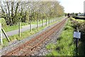 SH4761 : The Welsh Highland Railway at Pant Farm Crossing by Jeff Buck