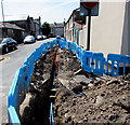 ST3187 : Welsh Water trench, East Market Street, Newport by Jaggery