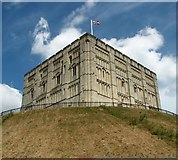 TG2308 : Norwich Castle as seen from Castle Meadow by Evelyn Simak