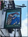 SK6287 : The sign of the Angel Inn by David Lally