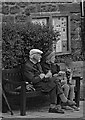 NU2410 : Villagers with dogs, Alnmouth : Week 25
