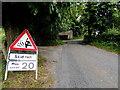 H3889 : Skid risk sign, Ballymullarty by Kenneth  Allen