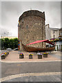 """S6112 : Viking Tower and Longboat, Waterford's """"Viking Triangle"""" by David Dixon"""