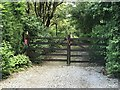 SJ8151 : Gate on public footpath by Jonathan Hutchins