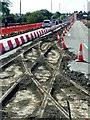 SK2523 : Tram tracks on Burton Bridge by Alan Murray-Rust