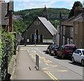 ST1499 : Zigzag yellow markings on Church Street, Bargoed by Jaggery