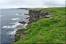 HY2328 : North Coast of the Brough of Birsay by Anne Burgess
