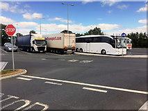 S6559 : Paulstown Services Lorry Park by David Dixon