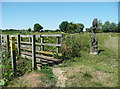 TL1739 : Footbridge on the path to Langford, Henlow by Humphrey Bolton