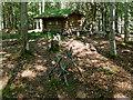 NH5542 : Log cabin, Reelig Community Woodland by Julian Paren