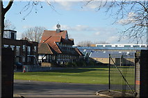 TQ3787 : Essex County Cricket Pavilion by N Chadwick