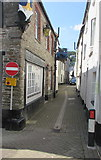 SX2553 : No Entry sign and Restricted Parking Zone sign, Lower Chapel Street, East Looe by Jaggery