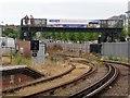 SZ5992 : The footbridge over the railway by Ryde Esplanade Station by Steve Daniels