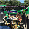 SK5837 : West Bridgford: lunch on a sunny day by John Sutton