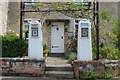 ST7898 : Old Fuel Pumps, Main Street, Uley, Gloucestershire 2014 by Ray Bird