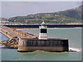 SH2584 : Holyhead Harbour Breakwater and Lighthouse by David Dixon