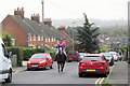 SP9111 : Horse and Rider in Miswell Lane by Chris Reynolds