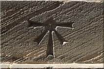 SE3221 : 1GL Bolt Bench Mark, St John's Church by Mark Anderson