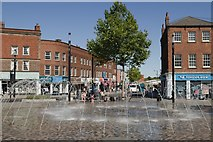 SE3320 : Fountain, Bull Ring, Wakefield by Mark Anderson