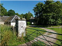 NH7176 : Back gate to Scotsburn House by Julian Paren