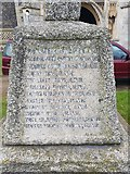 TG4919 : Names of the fallen on the Winterton war memorial 2 by Helen Steed