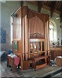 TG4919 : Memorial organ inside Holy Trinity & All Saints church, Winterton by Helen Steed
