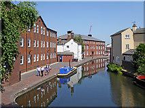 SP0686 : Canal near Cambrian Wharf in Birmingham by Roger  Kidd