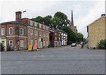 TM0458 : Stowmarket: towards the parish church by John Sutton