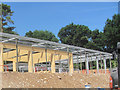 SP8808 : Framework of the New Cafe in Wendover Woods - Front View by Chris Reynolds