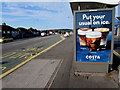 ST3090 : Iced Costa Coffee advert on a Malpas Road bus shelter, Newport by Jaggery