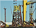 J3575 : Wind turbine part, Harland & Wolff, Belfast - July 2018(1) by Albert Bridge