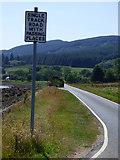 NS0274 : Pre Worboys road sign near Rhubodach by Thomas Nugent