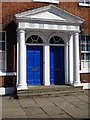 SE3221 : Pair of doors under a pediment, St John's North by Philip Halling