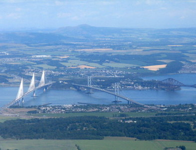 NT1279 : The Firth of Forth and its bridges by M J Richardson
