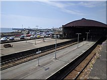 SW4730 : Railway station and harbour at Penzance by Rob Purvis